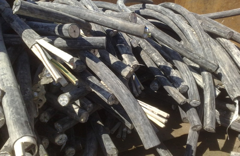 Пункт приема металлолома кабеля.